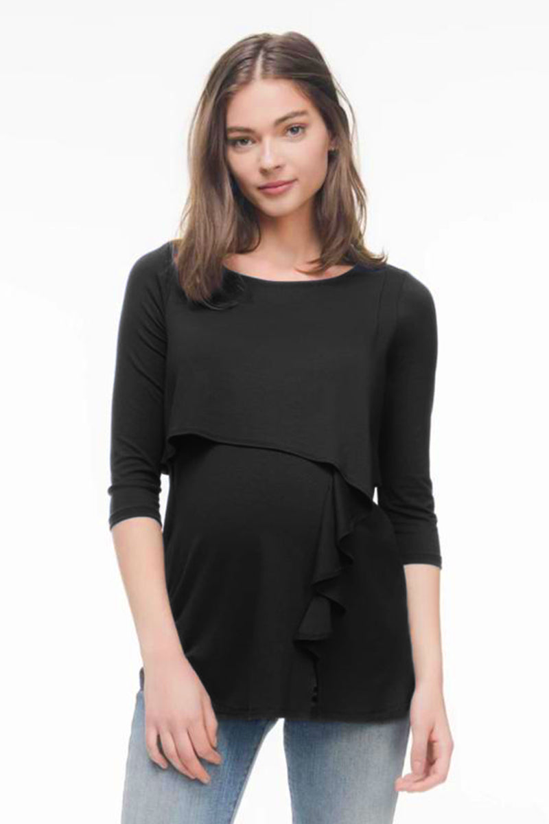 Ruffle Cascade Nursing Top