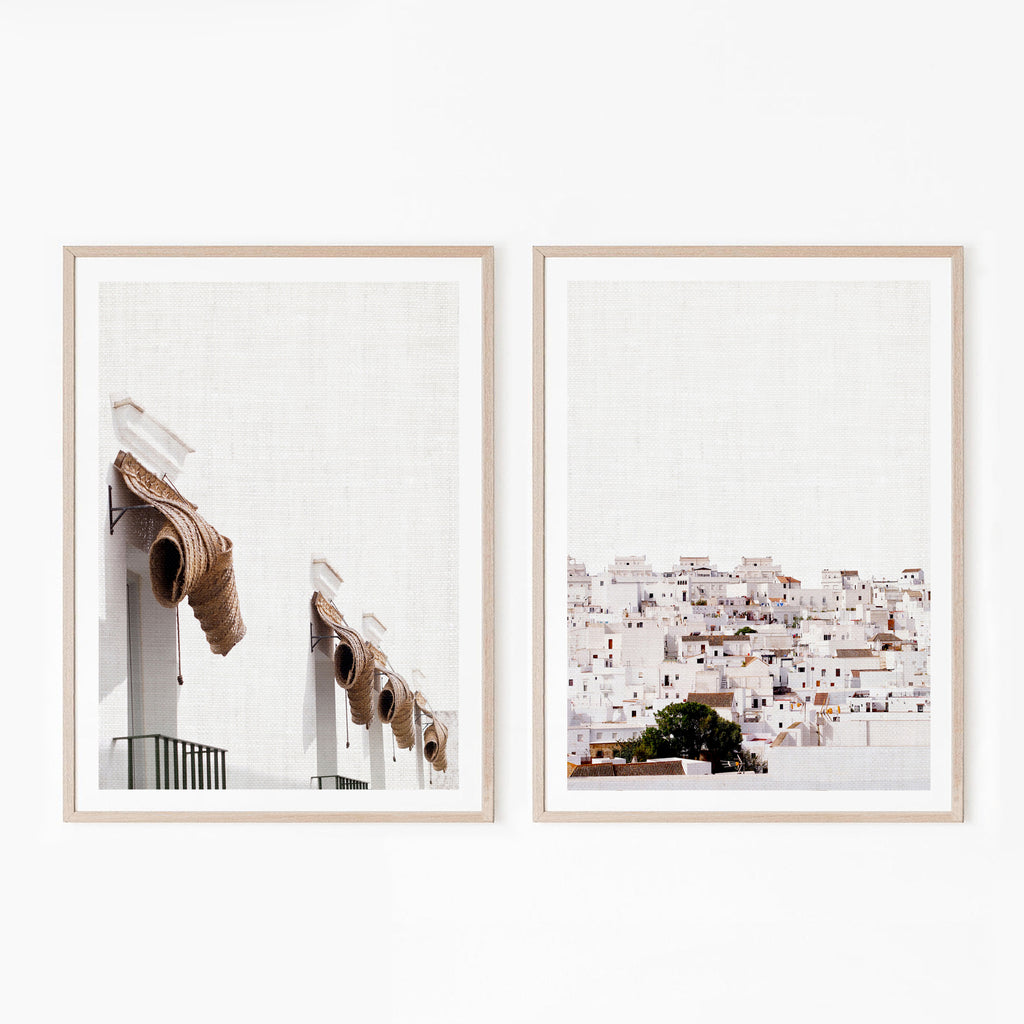 Set of 2 Digital Prints - White Town