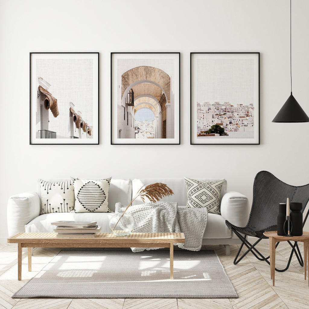 Set of 3 Digital Prints - White Town