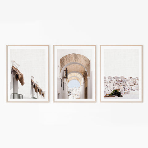 Set of 3 Prints - White Town