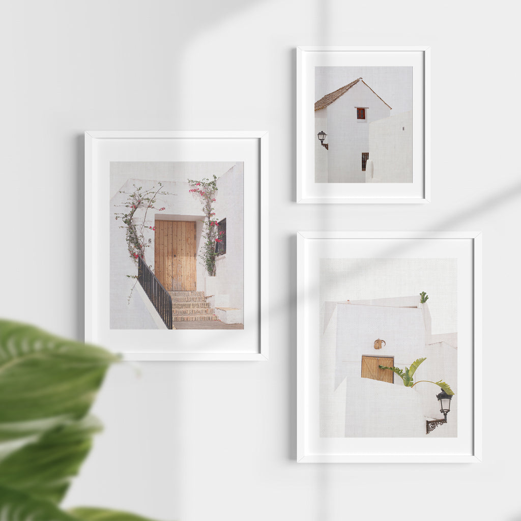 Set of 3 Digital Prints - White Architecture