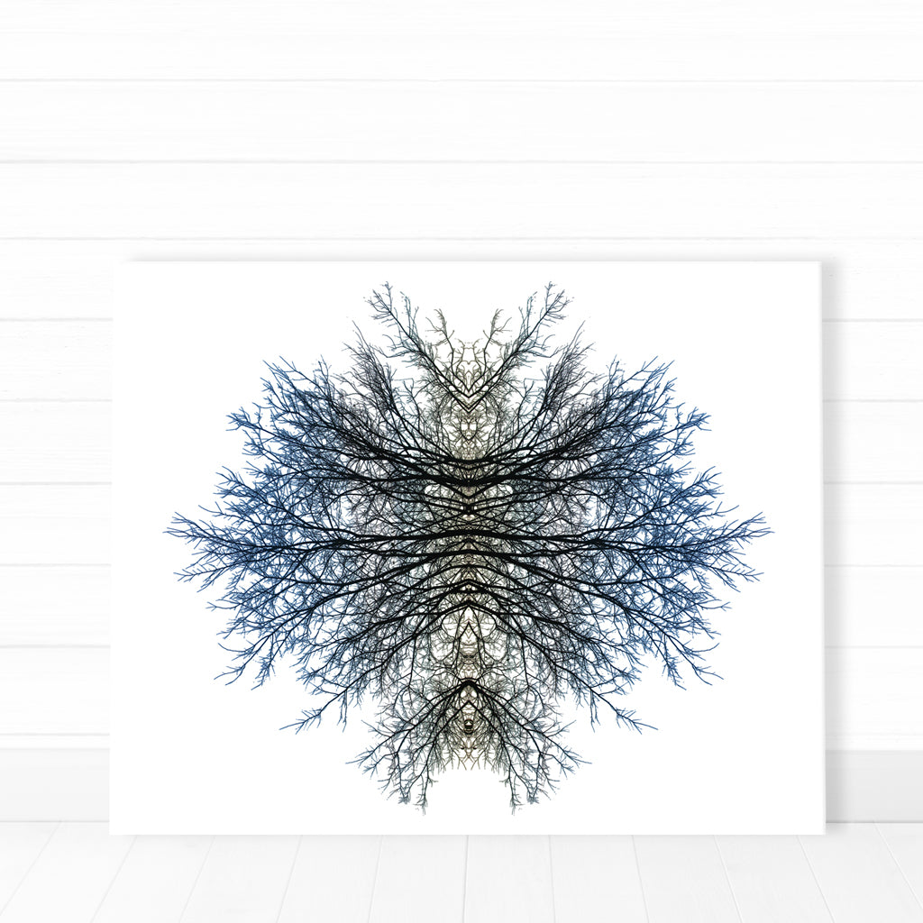 Canvas - Blue Shadow Tree
