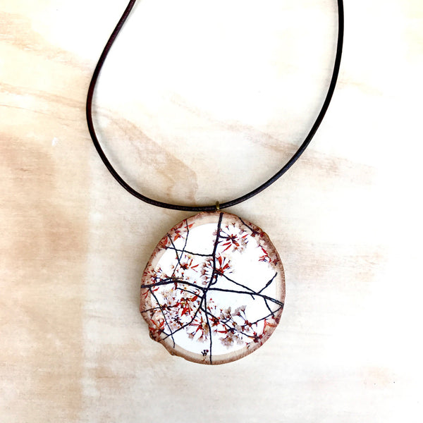 Japan Cherry Blossom Pendant  (Small)