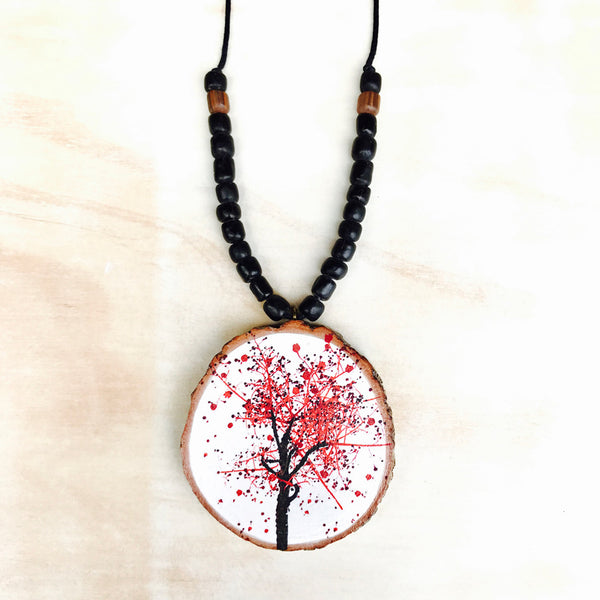 Bohemian Flame Tree Necklace