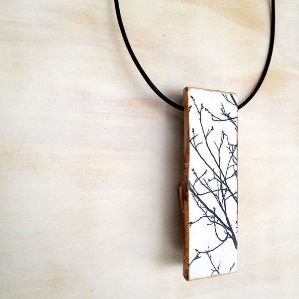 Tree Branch Mini Log Pendant