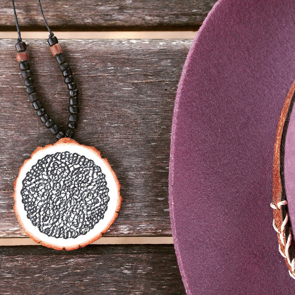 Mandala Black Necklace