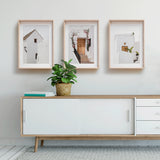 Set of 3 Prints - White Architecture