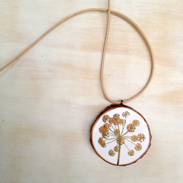 Yellow Flower Pendant (small)