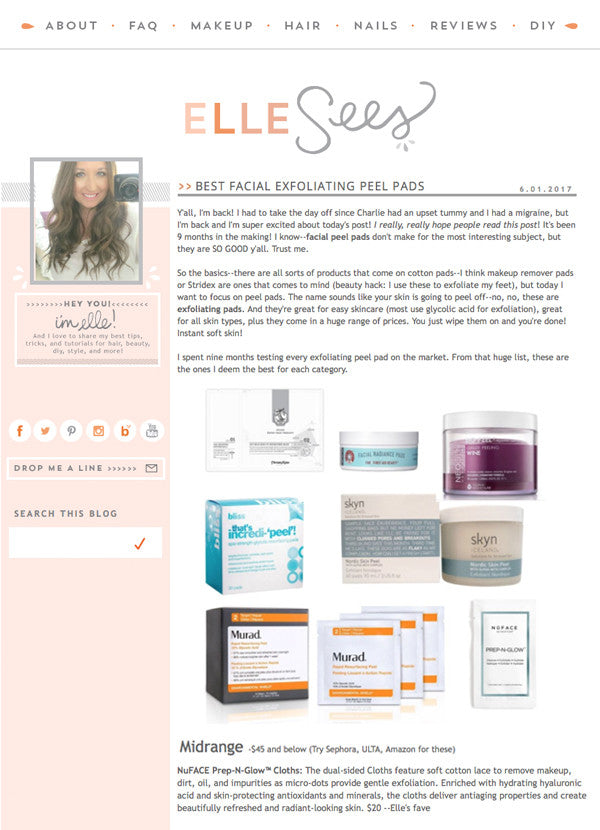 ellesees.net - Best Facial Exfoliating Peel Pads