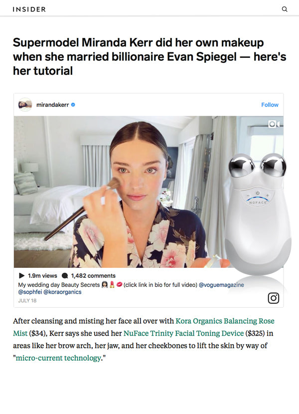 Supermodel Miranda Kerr did her own makeup when she married billionaire Evan Spiegel