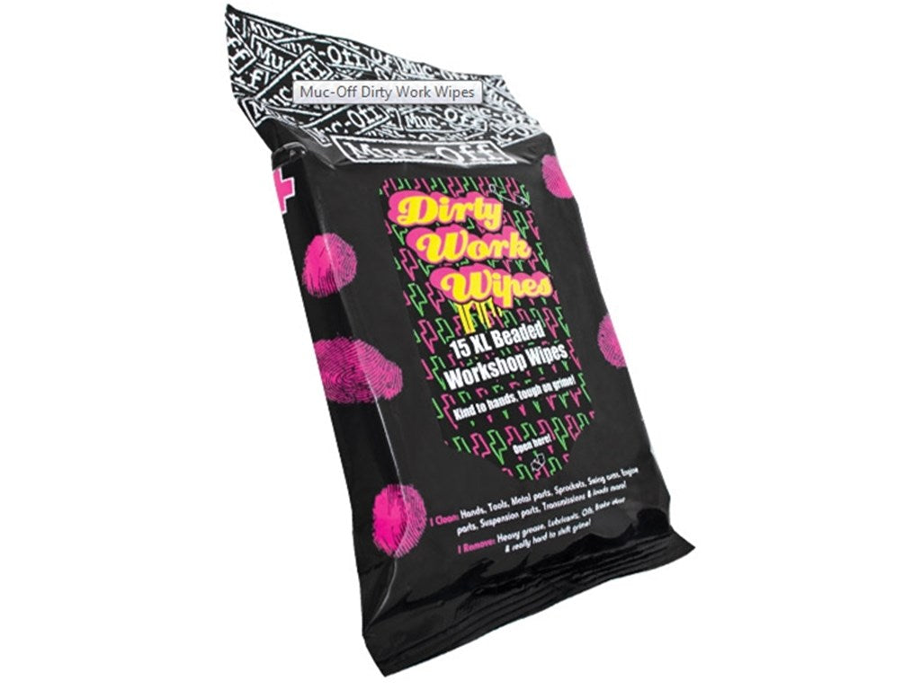 Muc-Off Dirty Work Wipes 15 Pcs In A Bag