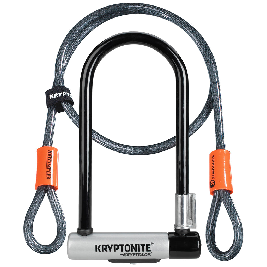 Kryptonite 10.2Cmx22.9Cm And 4Foot Cable