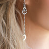 Faithful Moon Boho Drop Earring