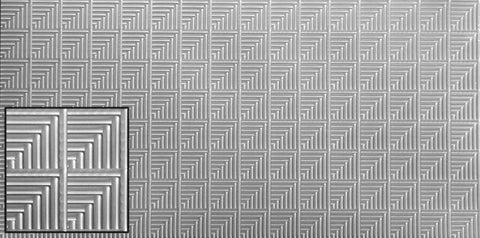 "Egyptian Tile, Decorative Sheet Metal, Metal Laminate, 48""x96"" - SpectraMetal"