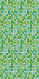 "Green Tiles, Decorative Sheet Metal, Metal Laminate, 24""x48"" - SpectraMetal"