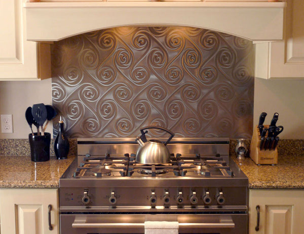 kitchen with metal backsplash backsplash spectrametal 6531