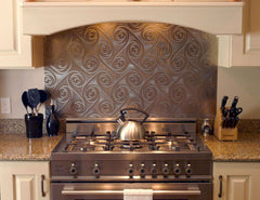 Twister Stainless Steel Kitchen Backsplash Application - SpectraMetal