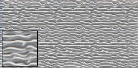 "Wavy, Decorative Sheet Metal, Metal Laminate, 48""x96"" - SpectraMetal"