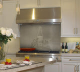 Wine Stainless Steel Kitchen Backsplash Application - SpectraMetal