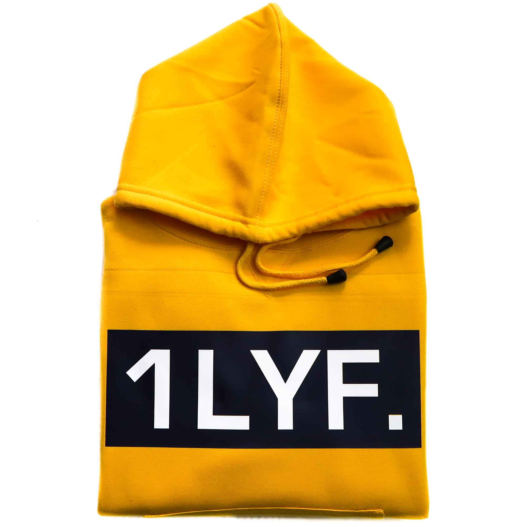 Womens Original Yellow Crop Hoodie