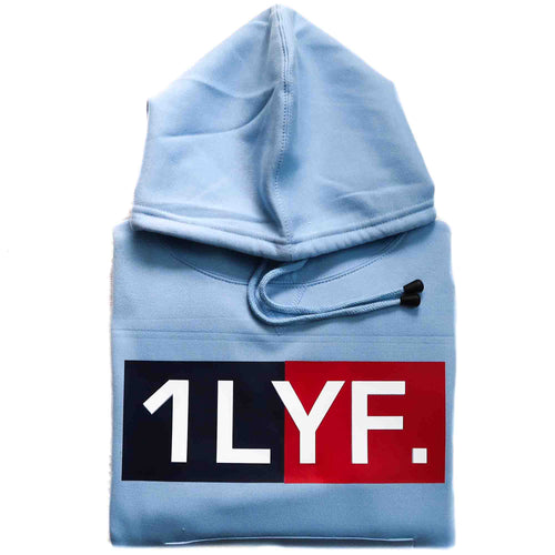 Womens Original Light Blue/Navy Hoodie