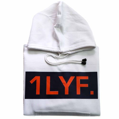 Womens Original White/Orange Hoodie