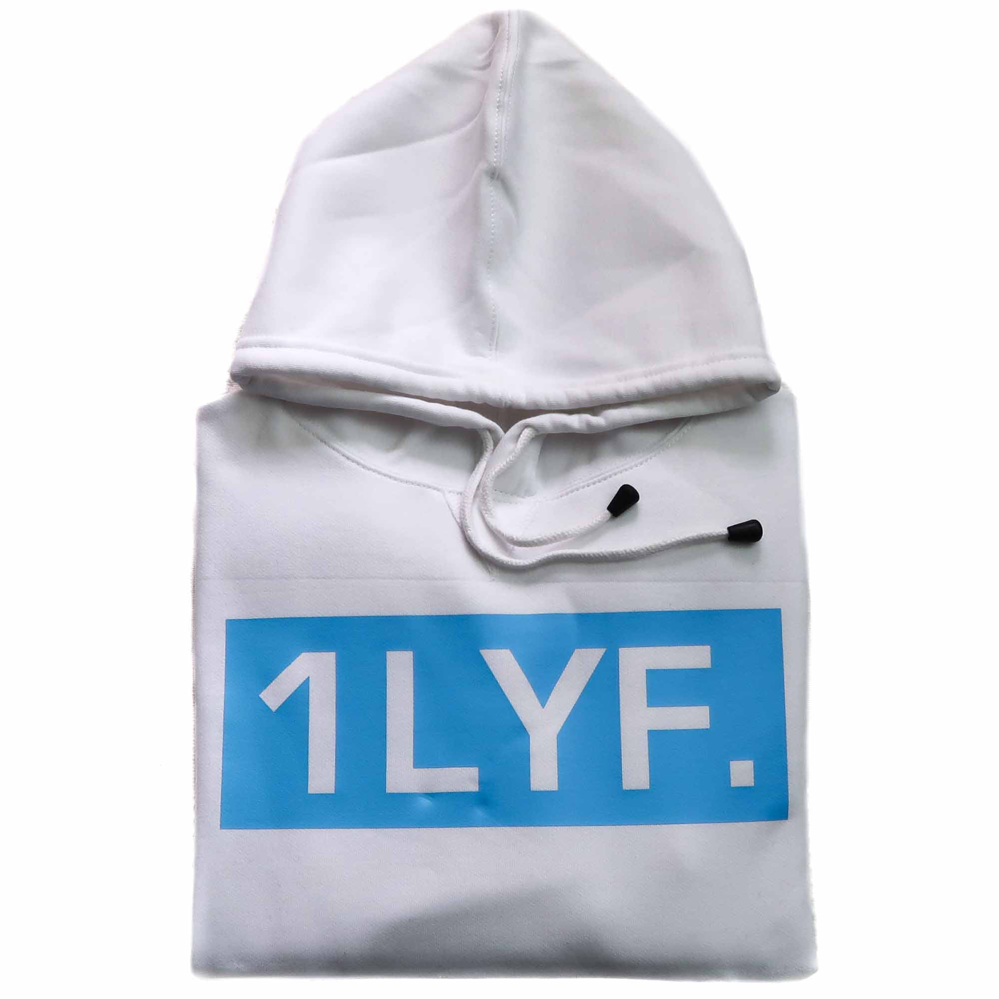 Womens Original White/Light Blue Hoodie