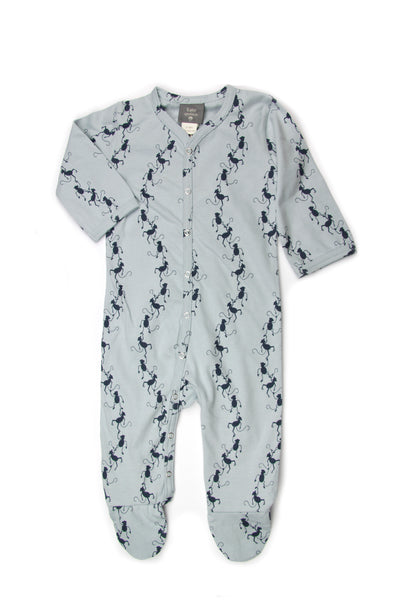 Organic Cotton Classic Footie Jumpsuit-Monkey print