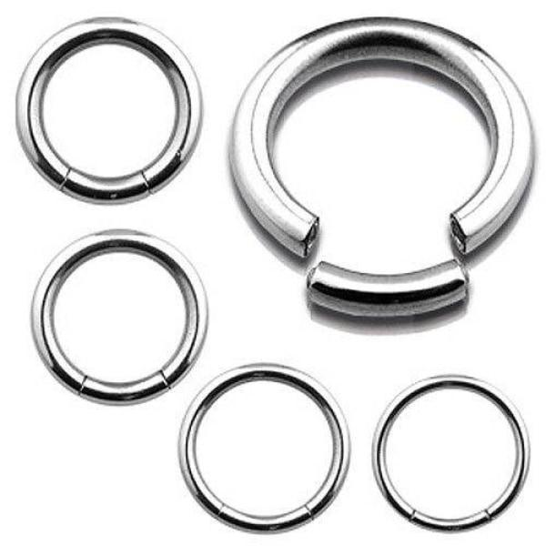 316L Surgical Steel Seamless Segment Ring-Badboy Jewellery
