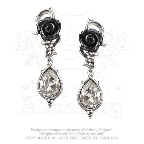 Alchemy Bacchanal Rose Drop Earrings - E347-Badboy Jewellery