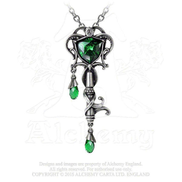 Alchemy Key To The Secret Garden Pendant - P718-Badboy Jewellery