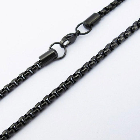 Black Stainless Steel Link Chain with Clasp - 150366-Badboy Jewellery