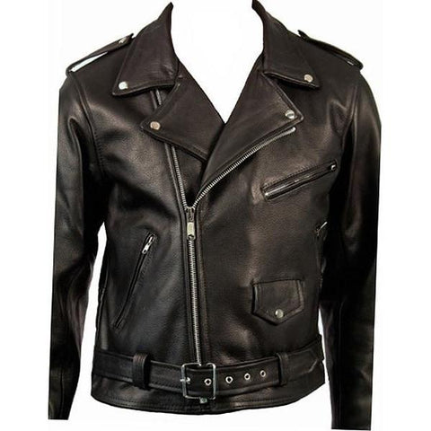Brando Biker Jacket by Skintan Leather-Badboy Jewellery