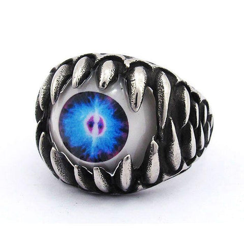 Eyeball Ring in Jaws - Stainless Steel - 370506-Badboy Jewellery
