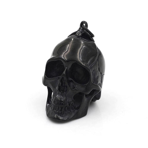 Large & Heavy Black Skull Pendant - Stainless Steel-Badboy Jewellery