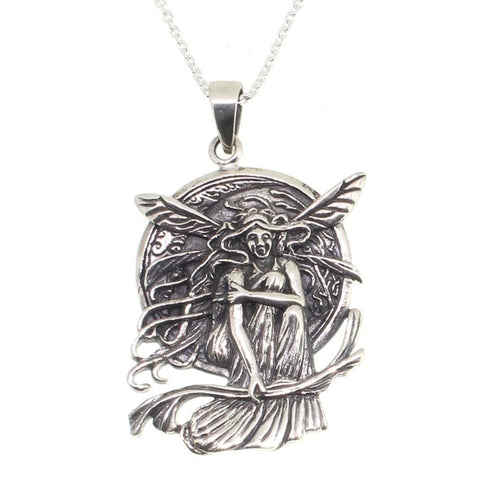 Large Sterling Silver Fairy Pendant-Badboy Jewellery