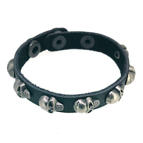 Leather Skull Stud Bracelet-Badboy Jewellery