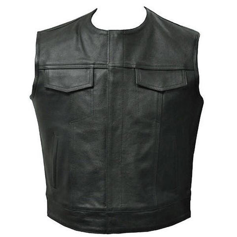 Opie - Classic Cut Off Outlaw Vest by Skintan Leather-Badboy Jewellery