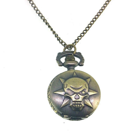 Skull Pocket Watch Pendant-Badboy Jewellery