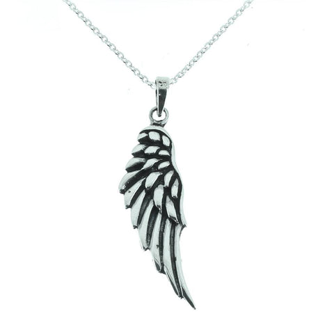 Sterling Silver Angel Wing Pendant-Badboy Jewellery