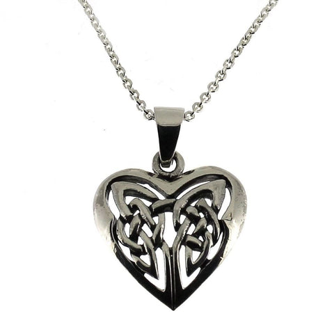 Sterling Silver Celtic Heart Pendant-Badboy Jewellery