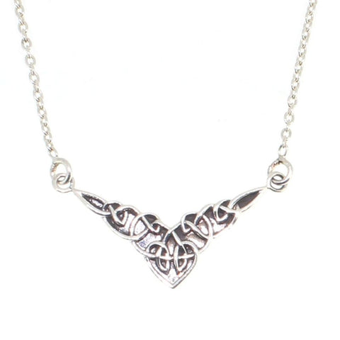 Sterling Silver Celtic Knot Necklace-Badboy Jewellery