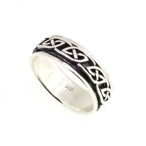 Sterling Silver Celtic Knot Rotating Ring - SR0482-Badboy Jewellery