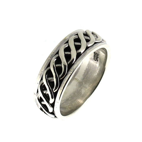 Sterling Silver Celtic Knot Spinning Ring-Badboy Jewellery