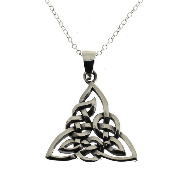 Sterling Silver Celtic Triscal Pendant-Badboy Jewellery