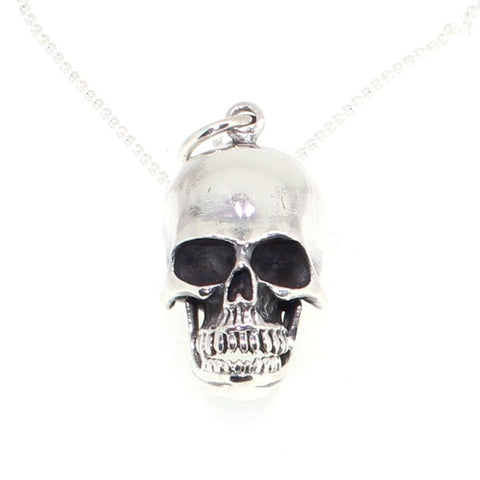 Sterling Silver Large Skull Box Pendant-Badboy Jewellery