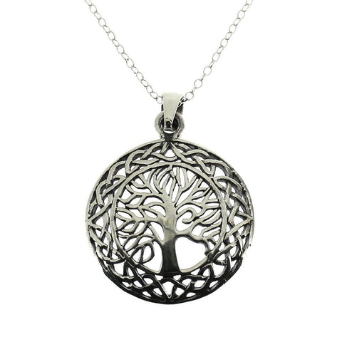 Sterling Silver Tree of Life Pendant-Badboy Jewellery