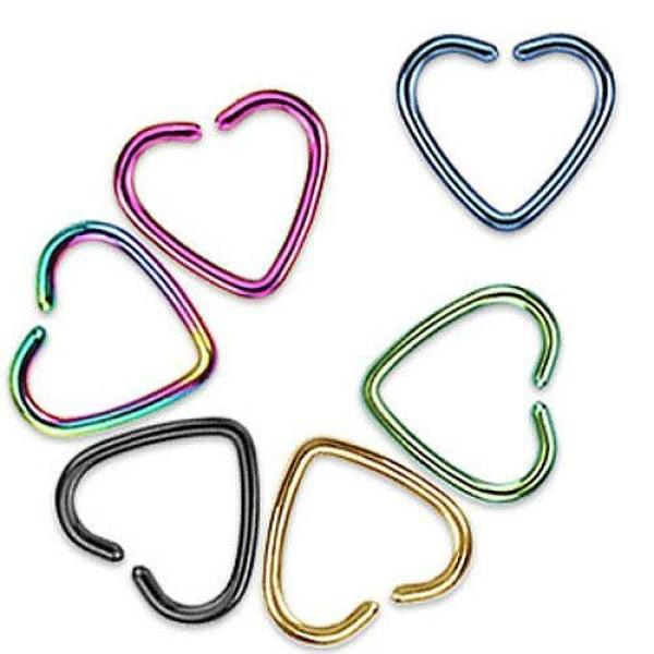 Titanium Ion Plated Single Closure Heart Ring-Badboy Jewellery