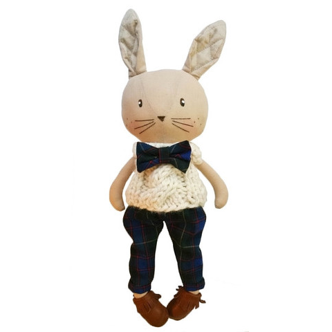 Boy Bunny Holiday Gift for Toddlers Handmade Locally in USA