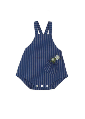 Baby and Toddler Holiday Gifts Made Locally in USA, Blue Romper